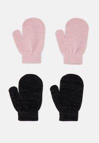 Name it - NMFMAGIC MITTENS 2 PACK - Gloves - black/coral blush - 1