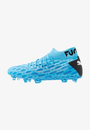 FUTURE 5.1 NETFIT FG/AG - Moulded stud football boots - luminous blue/nrgy blue/black/pink alert
