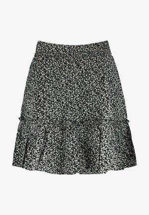 REGAN - Pleated skirt - flower black