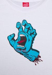 Santa Cruz - UNISEX SCREAMING HAND - Print T-shirt - white - 2