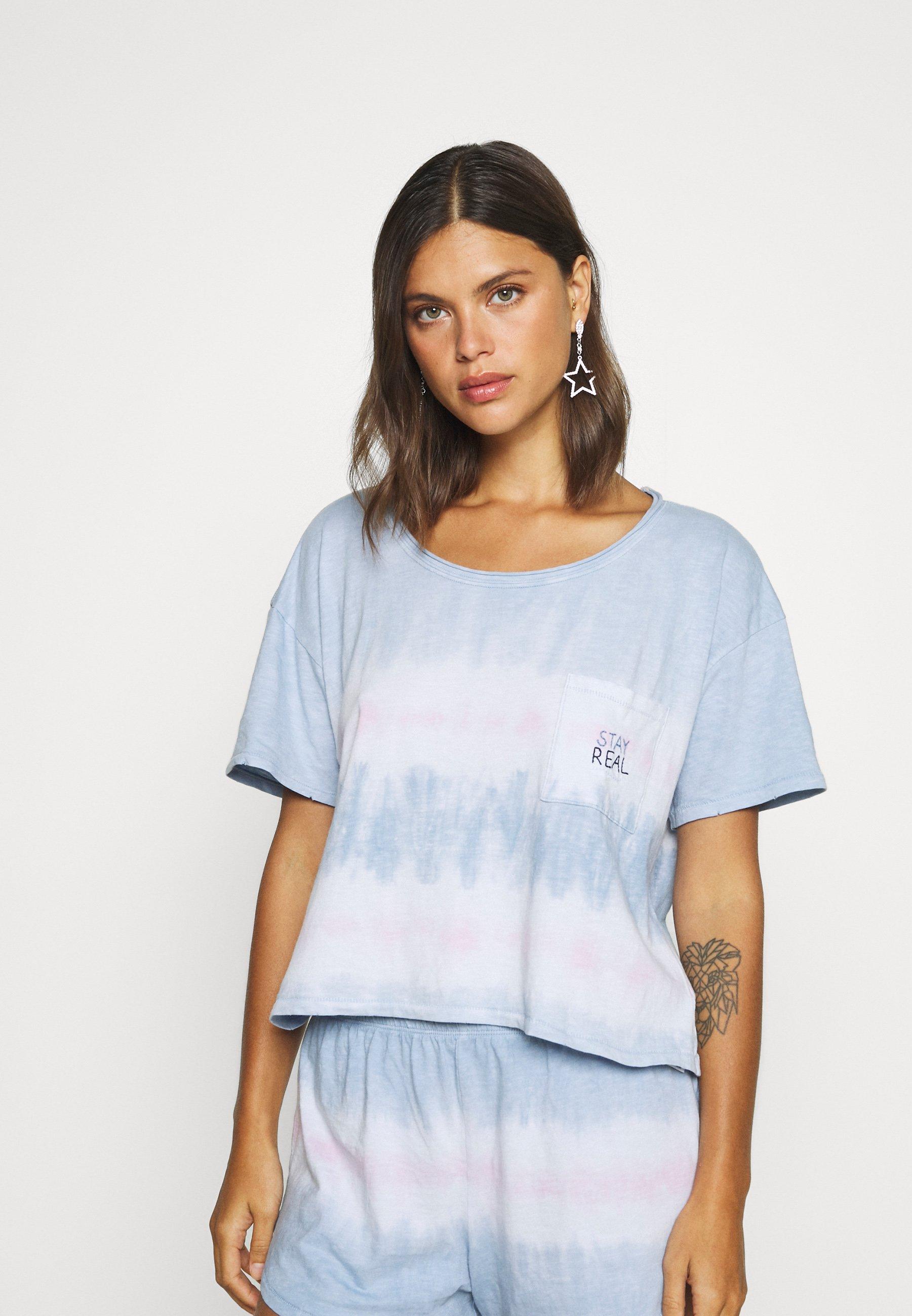 Donna TIE DYE SLEEP TEE - Maglia del pigiama - cloudy blue