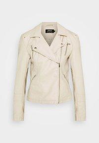 ONLGEMMA BIKER - Faux leather jacket - peyote