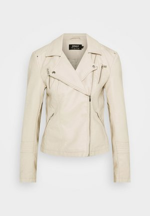 ONLGEMMA BIKER - Faux leather jacket - peyote