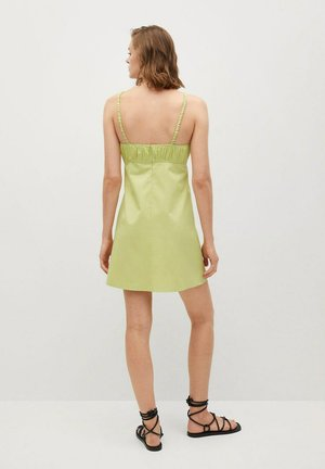 MIT GERAFFTEN DETAILS - Day dress - pastellgrün