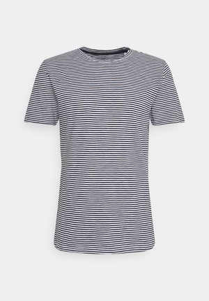 ALDER NARROW STRIPED TEE - Print T-shirt - total eclipse
