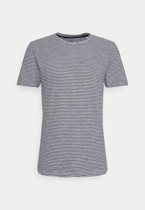 ALDER NARROW STRIPED TEE - T-shirt med print - total eclipse