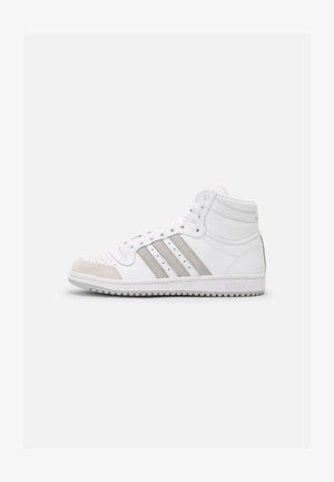 TEN SHOES MID - High-top trainers - white/grey