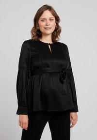 IVY & OAK Maternity - TUNIC BLOUSE - Camicetta - black - 0