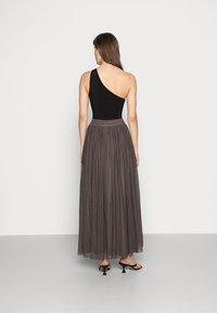 Lace & Beads - MARIKO SKIRT - Falda larga - stone - 2