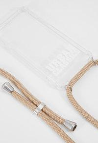 Urban Classics - I PHONE 8 HANDY NECKLACE - Phone case - transparent/ beige - 2