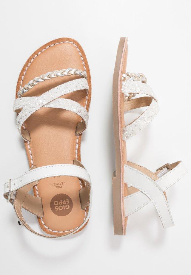 NOIDA - Sandals - white
