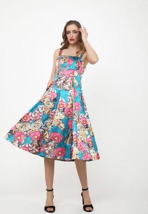 Day dress - aqua rosa