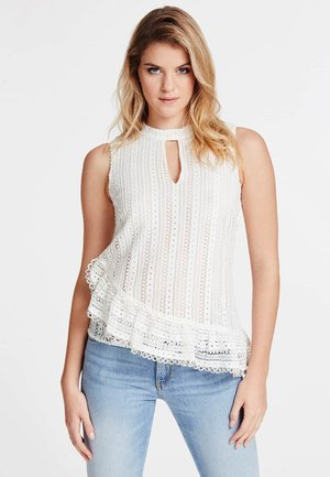 GUESS TANKTOP STICKEREI - Blouse - weiß