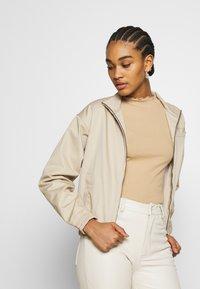 Monki - Long sleeved top - beige - 4