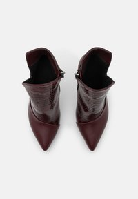 Trendyol - High heeled ankle boots - burgundy - 4