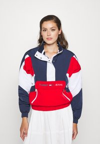 Tommy Jeans - COLORBLOCK LOGO - Windbreaker - deep crimson/multi - 0