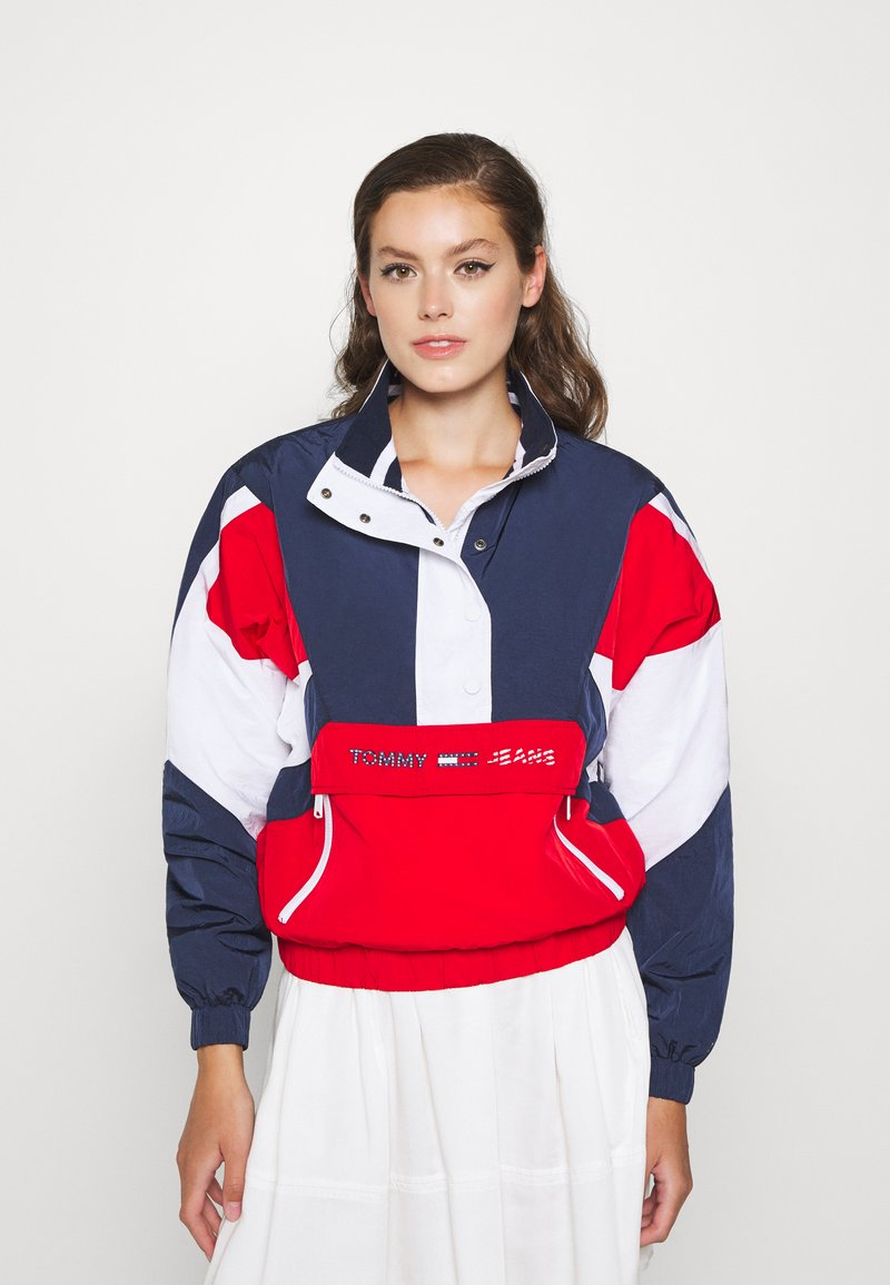 Tommy Jeans - COLORBLOCK LOGO - Windbreaker - deep crimson/multi