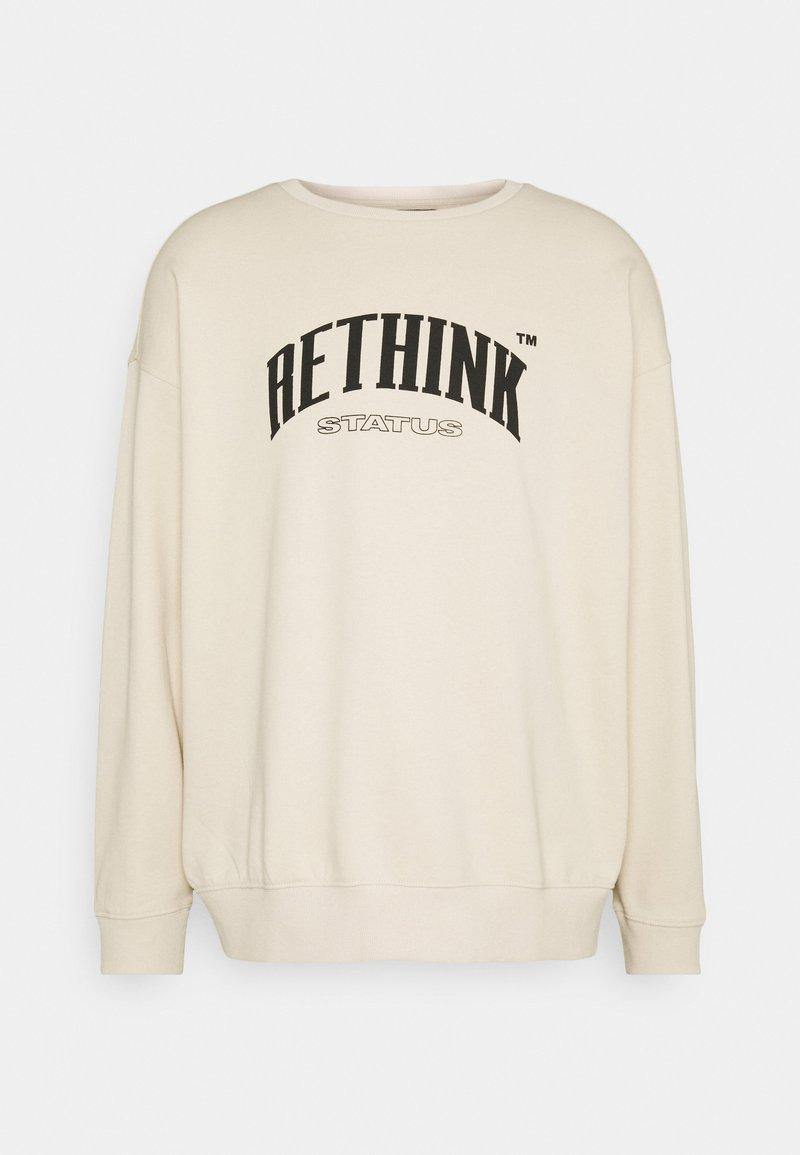 RETHINK Status - CREWNECK LABEL UNISEX - Sweatshirt - sandshell