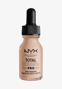 Nyx Professional Makeup - TOTAL CONTROL PRO DROP FOUNDATION - Foundation - porcelain - 0