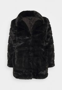 CAPSULE by Simply Be - STEPPED COAT - Classic coat - black - 4
