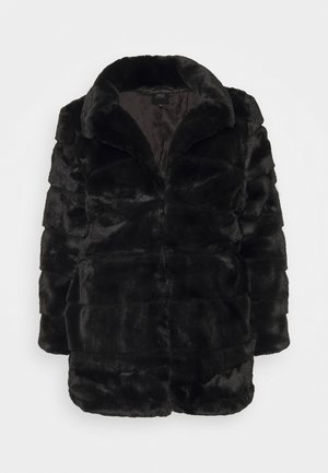 STEPPED COAT - Classic coat - black