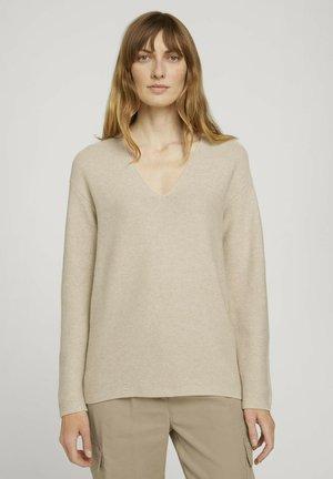 MIT BIO-BAUMWOLLE - Pullover - powder beige melange