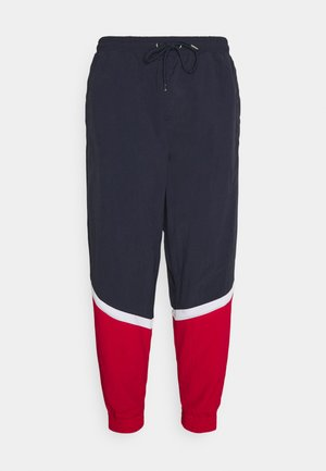 BLOCK TRACKPANTS - Pantaloni sportivi - navy