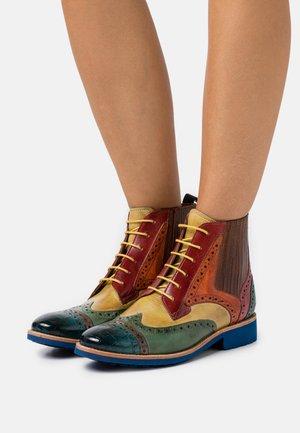 AMELIE  - Lace-up ankle boots - ice blue/grey sweet/green cedro/rubino orange/wood bubblegum