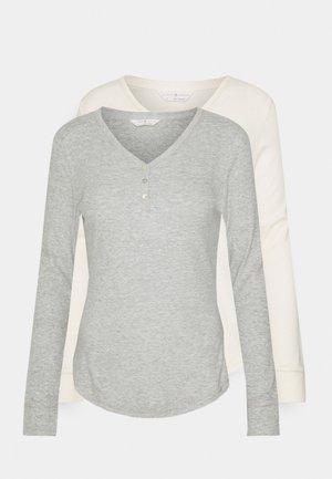 2 PACK - Maglia del pigiama - grey mix