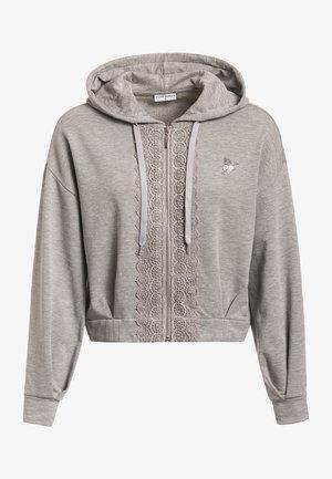Zip-up sweatshirt - grau meliert
