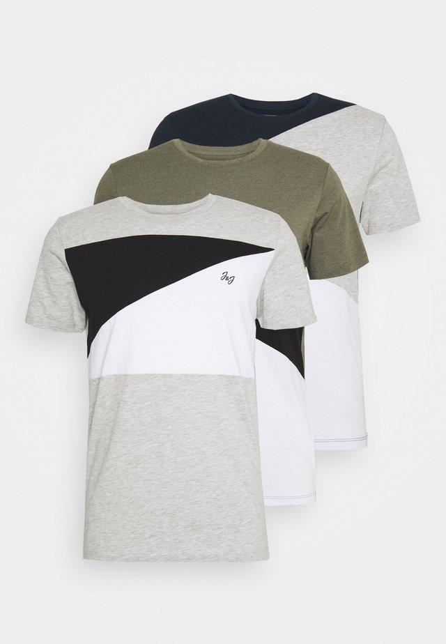 JCOPENN TEE CREW NECK 3 PACK - Print T-shirt - light grey melange