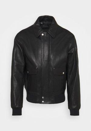JACKET - Veste en cuir - black