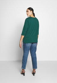 New Look Curves - SIDE BUTTON - Longsleeve - dark green - 2