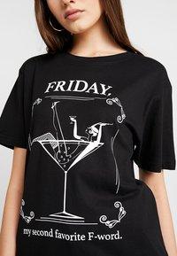 Merchcode - LADIES WORD TEE - T-shirt imprimé - black - 4