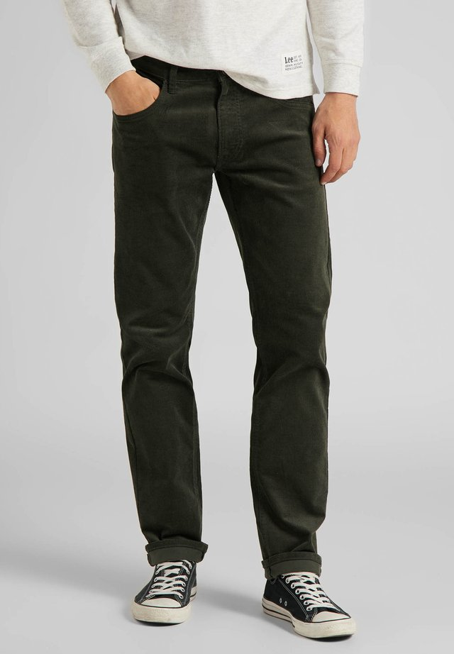 DAREN ZIP FLY - Pantaloni - serpico green