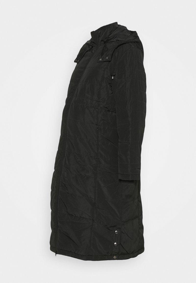 JoJo Maman Bébé - 2 IN 1 LONGLINE PUFFER - Winter coat - black