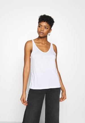 ABBY V NECK TANK - Topper - white