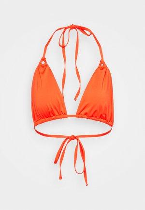 MELISSA GATHERED STRING TRIANGLE - Bikini top - orange
