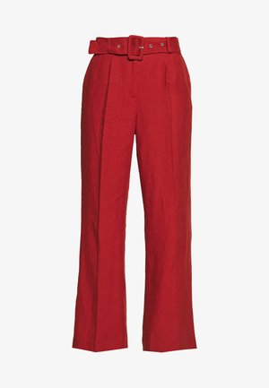 LINOVER - Trousers - terracotta