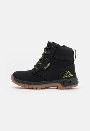 CAMMY UNISEX - Hiking shoes - black/lime