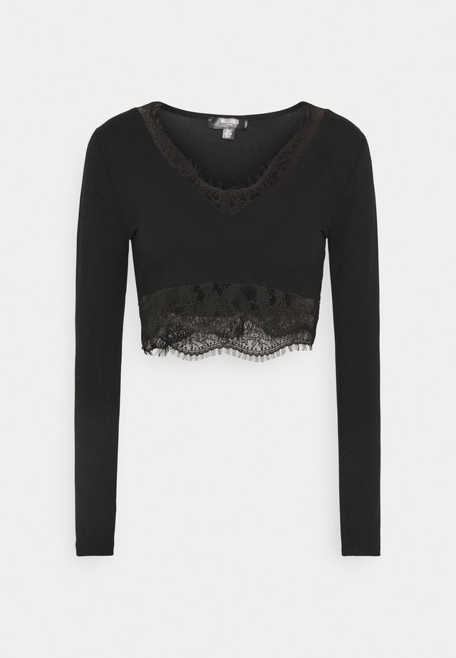 TRIM CROP - Blouse - black