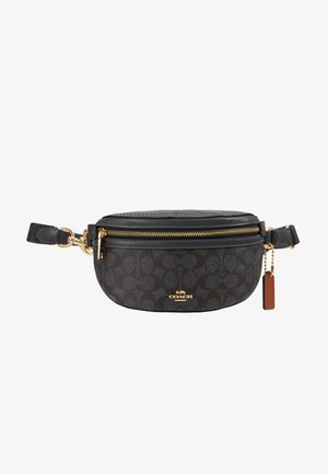 COATED SIGNATURE FANNY PACK - Rumpetaske - charcoal/midnight navy