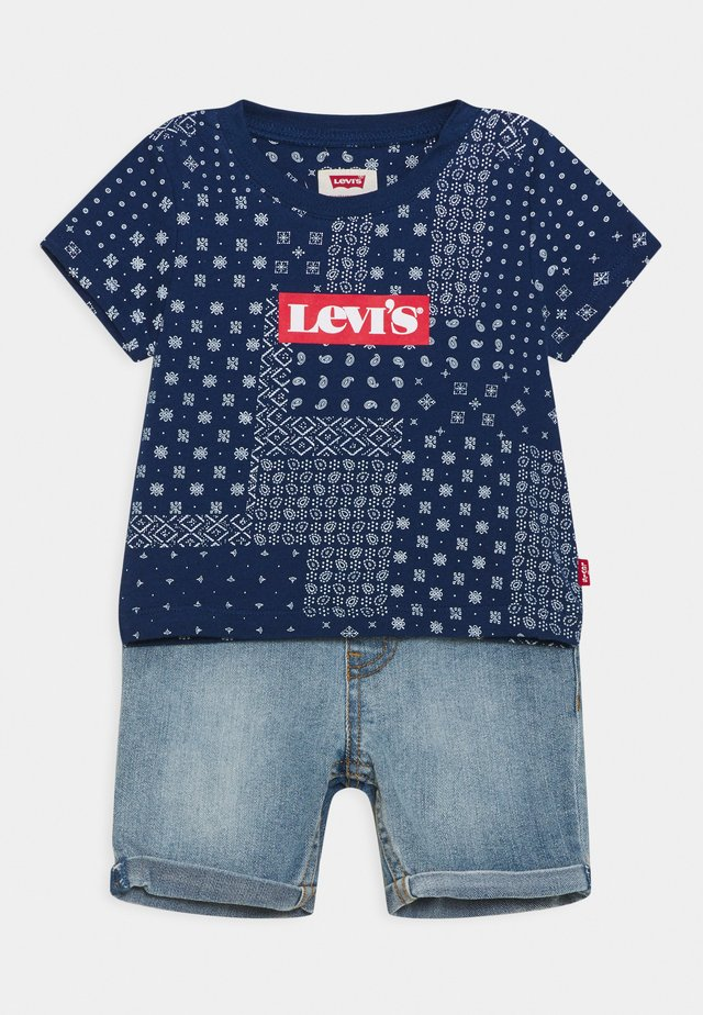 LVB SS DENIM SHORT SET - T-shirt con stampa - estate blue