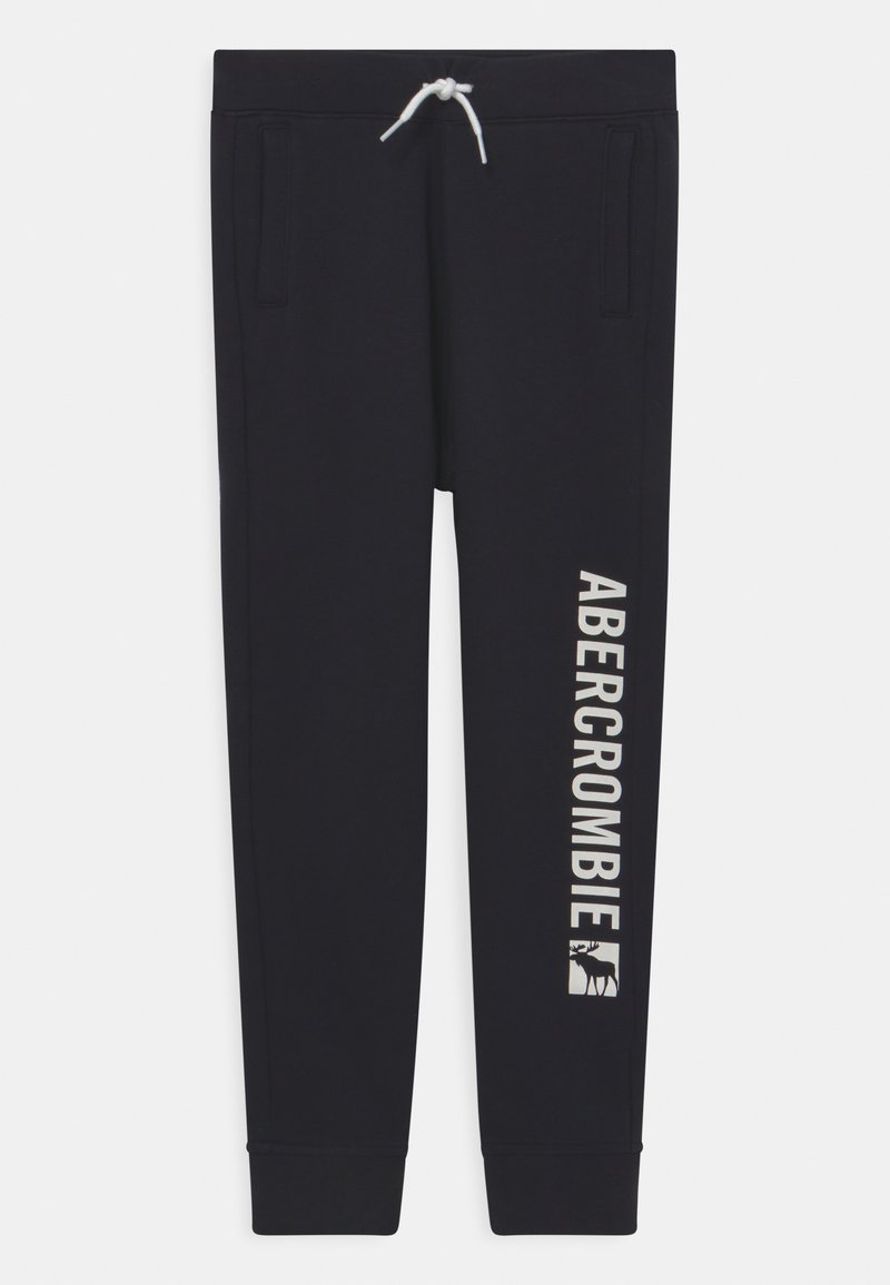 Abercrombie & Fitch - LOGO - Spodnie treningowe - black