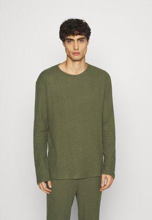 RIBBED LOUNGE TOP - Pyjama top - khaki