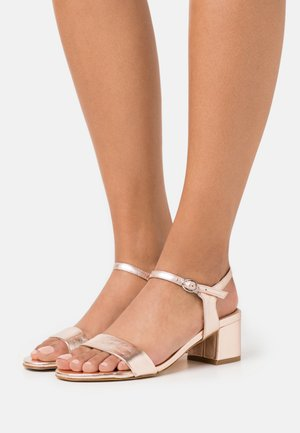 LEATHER - Sandalen - rose gold