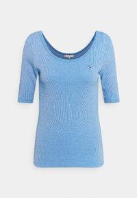 Tommy Hilfiger - SLIM VERTICAL OPEN - Basic T-shirt - blue - 0