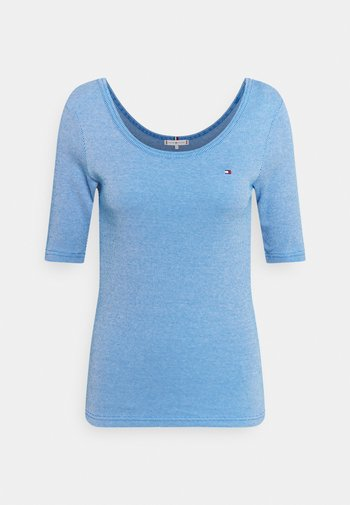 SLIM VERTICAL OPEN - Basic T-shirt - blue