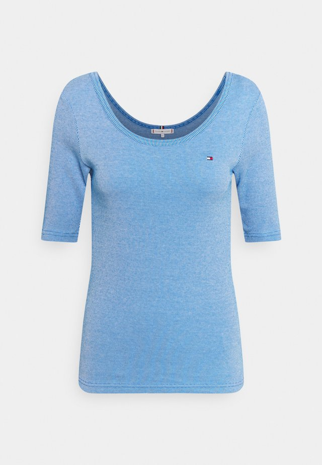 SLIM VERTICAL OPEN - Jednoduché triko - blue