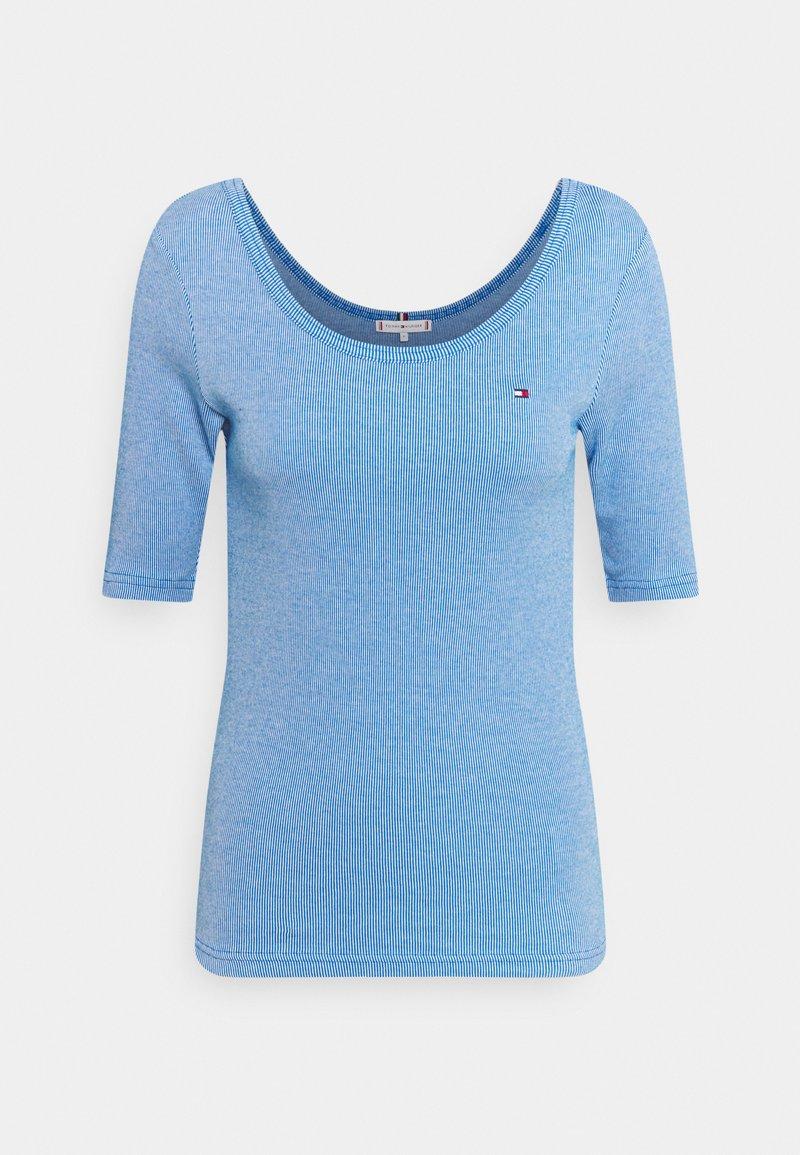 Tommy Hilfiger - SLIM VERTICAL OPEN - Basic T-shirt - blue